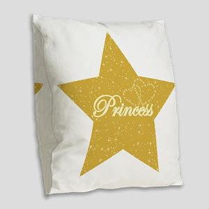 princess star3 Burlap Throw Pillow