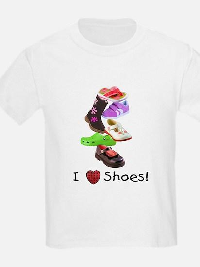 Little Girls love shoes too Kids T-Shirt