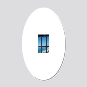 View From Q1 SkyscraperGold  20x12 Oval Wall Decal