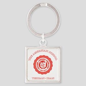 TASShotGlassRed Square Keychain
