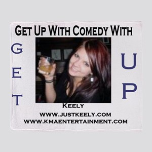 get up radio template just keely 1 Throw Blanket