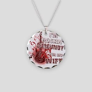 Im Rockin Burgundy for my Wi Necklace Circle Charm