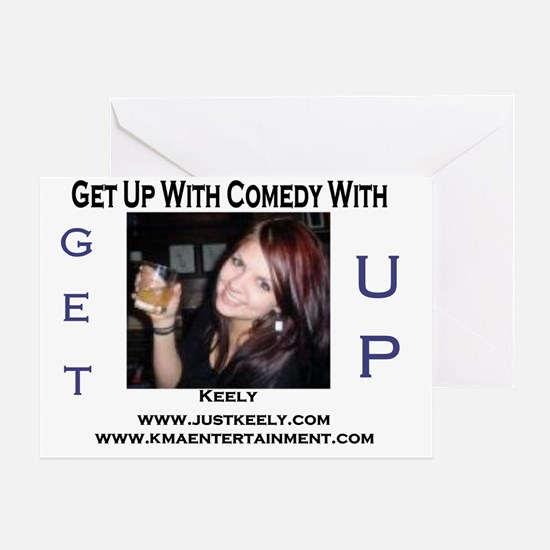 get up radio template just keely 1 Greeting Card