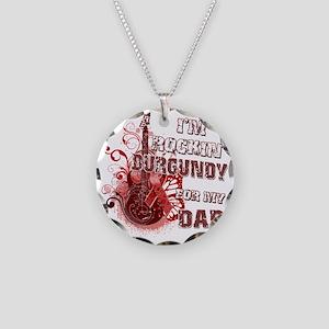 Im Rockin Burgundy for my Da Necklace Circle Charm