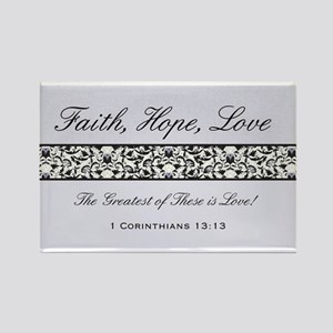 FAITH, LOVE, HOPE Rectangle Magnet