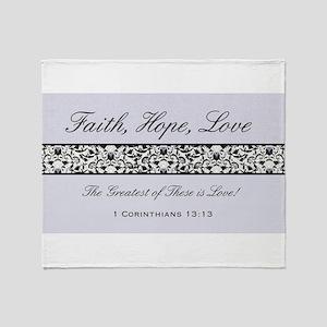 FAITH, LOVE, HOPE Throw Blanket