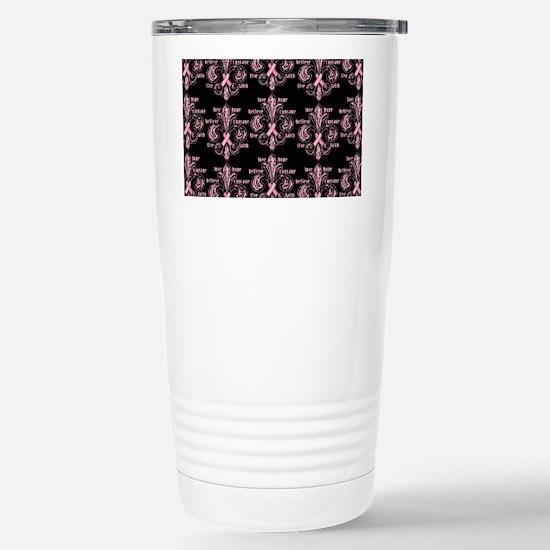 fleurPinkRibbonWBPBeBag Stainless Steel Travel Mug
