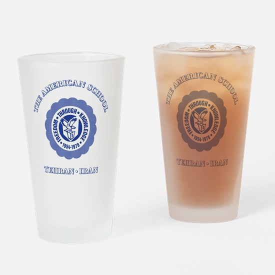 TASGolfShirtBlue Drinking Glass