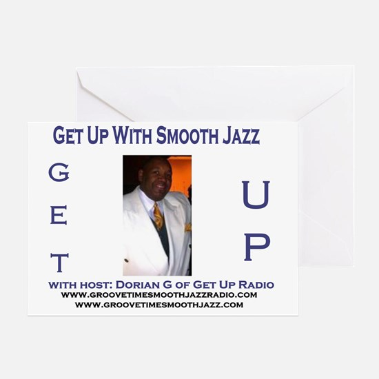 get up radio template smooth jazz Greeting Card