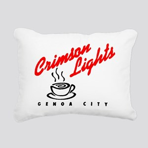 Crimson Lights Logo 01 Rectangular Canvas Pillow
