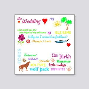 "Breaking Dawn 11-18 -dk Square Sticker 3"" x 3"""