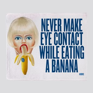 never make eye contact while eating  Throw Blanket