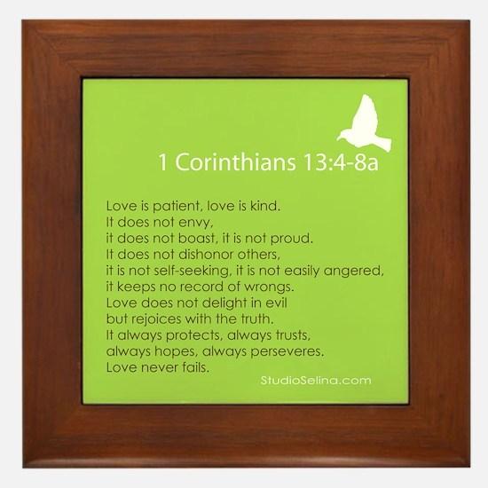 1 Corinthians 13:4-8A Framed Tile