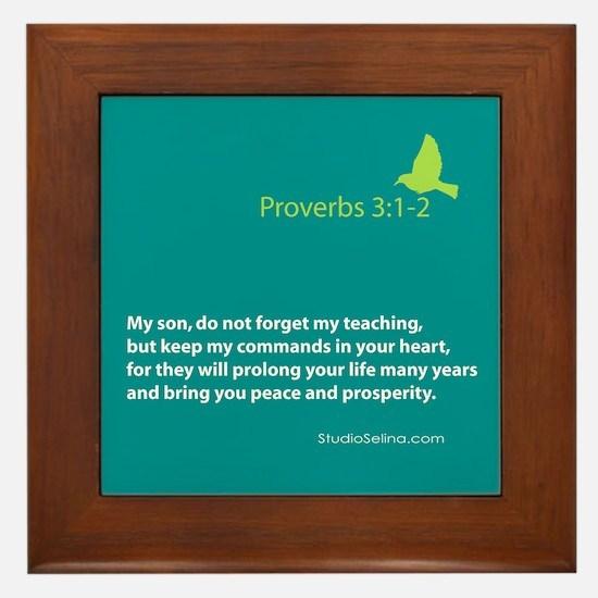 Proverbs 3:1-2 Framed Tile