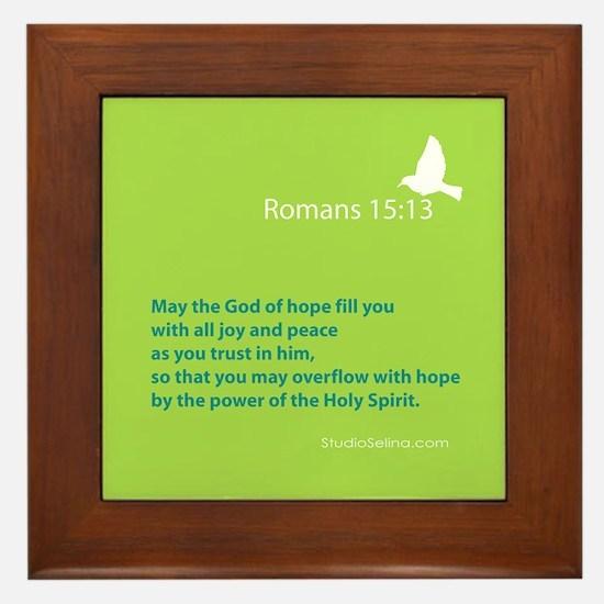 Romans 15:13 Framed Tile
