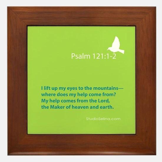 Psalm 121:1-2 Framed Tile