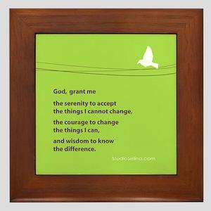 Serenity Prayer Framed Tile