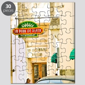 Antique American cars are a common sight on Puzzle