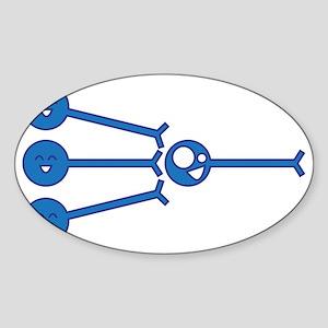 Many-to-One Sticker (Oval)