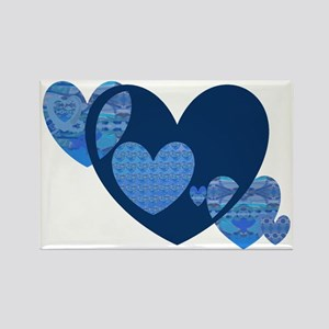 Cindys Hearts 6 Rectangle Magnet