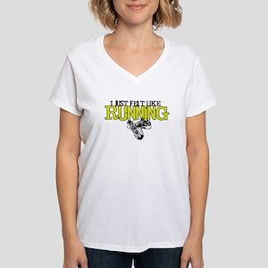 Just Felt Like Running Women's V-Neck T-Shirt