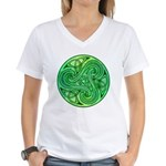 Celtic Triskele Women's V-Neck T-Shirt