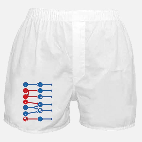 The Many Moods of Neurons (dark) Boxer Shorts