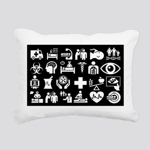 Medical Icons Dr.Stuff Rectangular Canvas Pillow