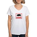 Lechon Women's V-Neck T-Shirt