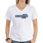 Intl Fencing Blue ver. Women's V-Neck T-Shirt