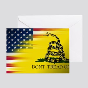 Gadsten flag merged with U.S. Greeting Card