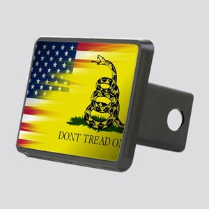Gadsten flag merged with U Rectangular Hitch Cover