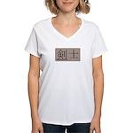 Fencer Kanji Women's V-Neck T-Shirt
