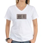 Fencer Kanji Women's V-Neck T-Shirt