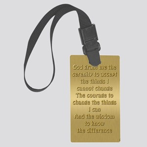 Serenity Prayer Large Luggage Tag
