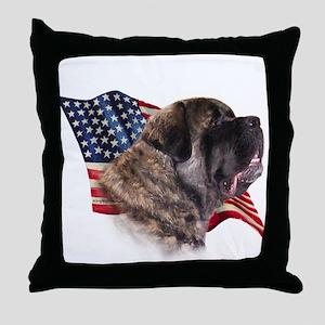 Fluffy Flag Throw Pillow