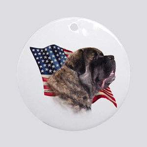 Fluffy Flag Ornament (Round)