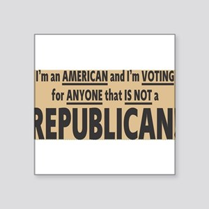 not voting Republican Sticker