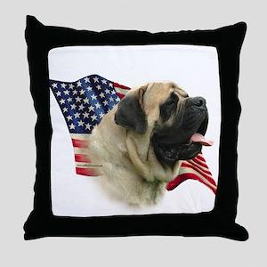 Fawn Flag Throw Pillow