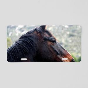 Horse Head Aluminum License Plate