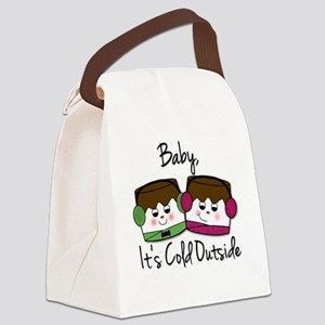 Baby its cold outside copy Canvas Lunch Bag