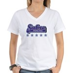 Sabre Fencing Women's V-Neck T-Shirt
