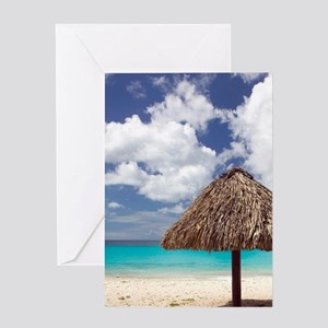 Kanepa: Beach Palapa / Playa Kanepa  Greeting Card