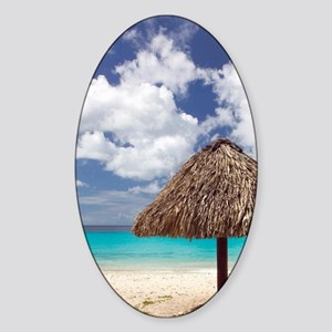 Kanepa: Beach Palapa / Playa Kanepa Sticker (Oval)