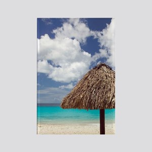 Kanepa: Beach Palapa / Playa Kane Rectangle Magnet