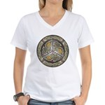 Bejeweled Celtic Shield Women's V-Neck T-Shirt