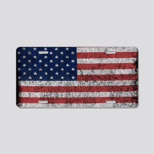 distressed-us-flag Aluminum License Plate