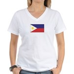 Philippine Flag Women's V-Neck T-Shirt