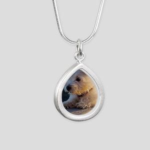 West Highland Terrier pu Silver Teardrop Necklace