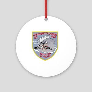 DD-830 USS EVERETT F LARSON Destroy Round Ornament